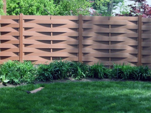 Woven Wood Boards Backyard Ideas Wooden Fence