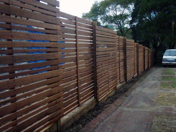 Contemporary Ideas For Wooden Fence Backyard