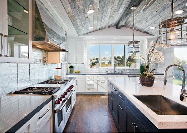 Barn Wood Ceiling Ideas For Kitchens