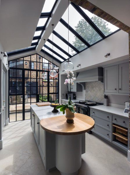 Incredible Skylight Kitchen Ceiling Interior Ideas
