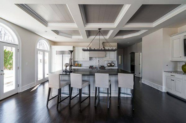 Coffered Ceiling Ideas For Kitchens White And Grey