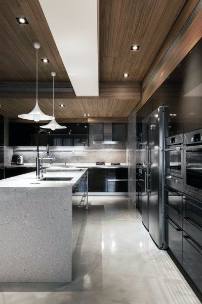 Ultra Modern Homes Wood Kitchen Ceilings
