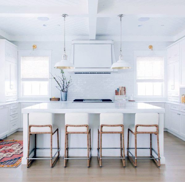 White Painted Kitchen Ceiling Ideas