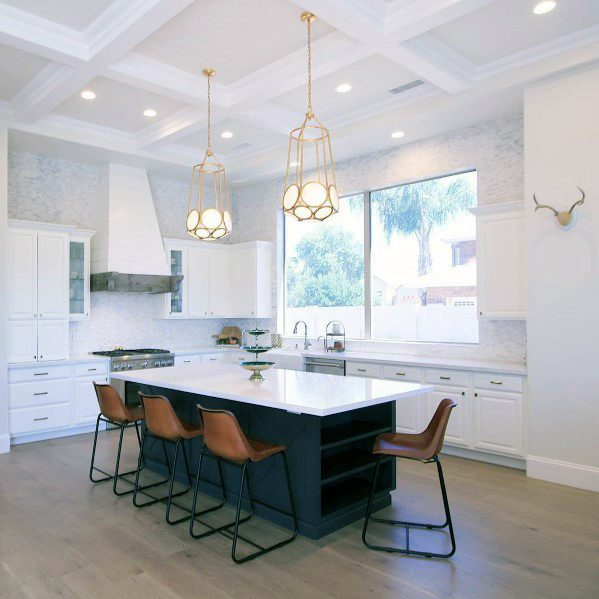 Contemporary White Kitchen Ceiling Ideas