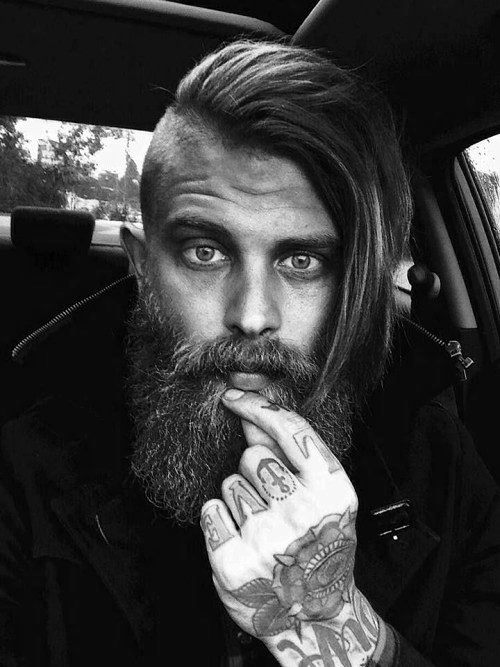 Side Swept Mens Suora Undercut Long Hairstyle Inspiration